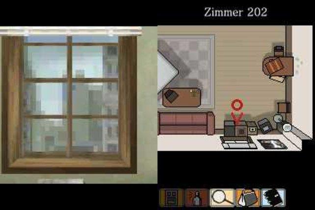 Auf dem rechten Bildschirm manipuliert ihr die Spielwelt im Touchscreen.