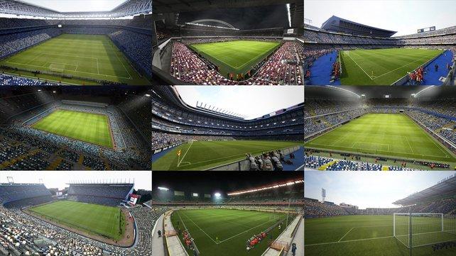 Neue Stadien kommen aus Spanien dazu. Insgesamt gibt es über 40.
