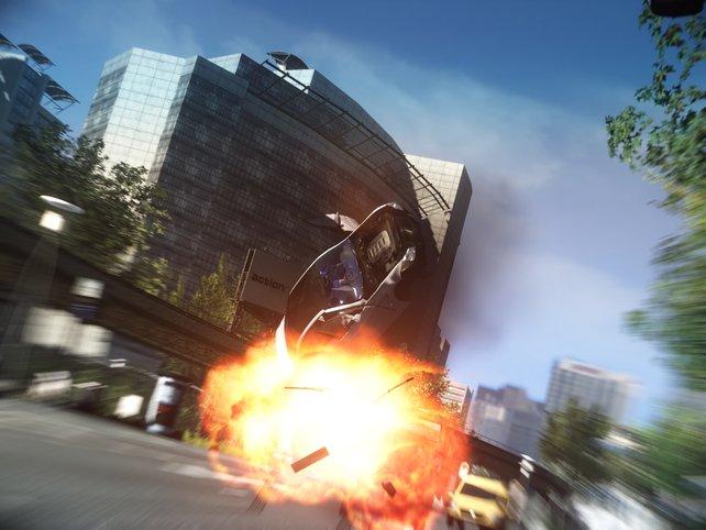 Spektakuläre Stunts und Explosionen gehören zum Alltag der Cobras.