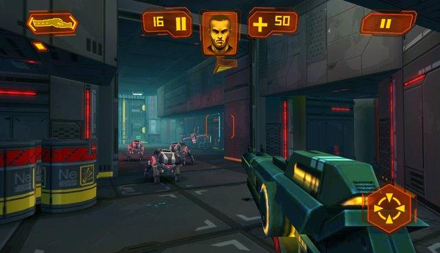 Neon Shadow sieht ein wenig aus wie Doom und spielt sich auch genauso flott.