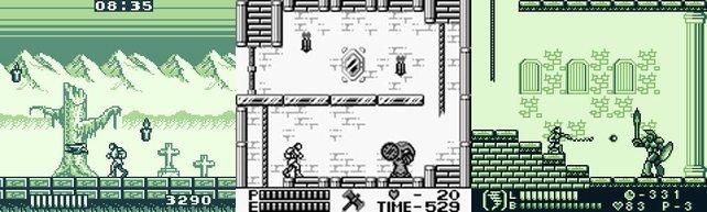 Vampirjagd in Schwarzweiß: dreimal Castlevania für den Game Boy.