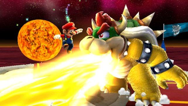 Natürlich stellt sich Mario in Super Mario Galaxy seinem Erzfeind Bowser.