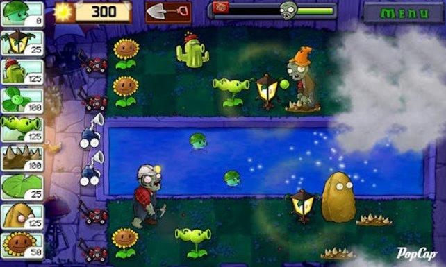 Pflanzen gegen Zombies - klassischer Mobilspielhit, der auch für Android verfügbar ist.