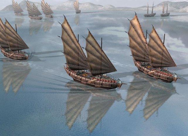 Neu sind auch Gefechte auf See
