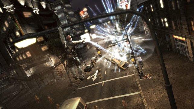 Hangin' in town - Und während ihr euch an der Laterne festhaltet, jagt ihr Blitze auf die Straße.
