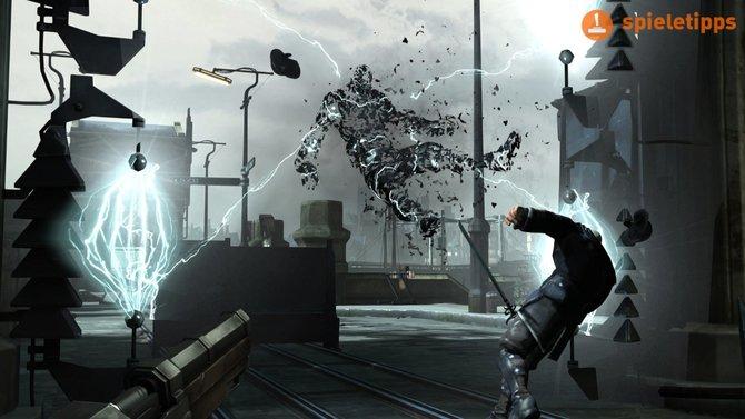 Diese elektrische Wand erkennt Feinde. Später im Spiel könnt ihr sie manipulieren. Sie röstet dann eure Gegner.