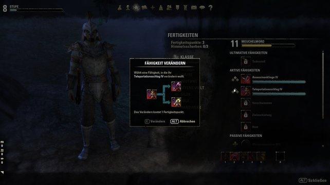 Im Verlauf des Spiels lernt ihr nicht nur neue Fähigkeiten, sondern erweitert auch bestehende.