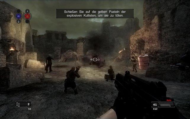 Oft explodieren die Feinde und reißen alle Kameraden in der Umgebung mit in den Tod