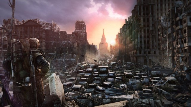 Auch ein Jahr nach Metro 2033 liegt Moskau in Trümmern.