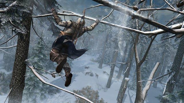 Connor macht Tarzan Konkurrenz.
