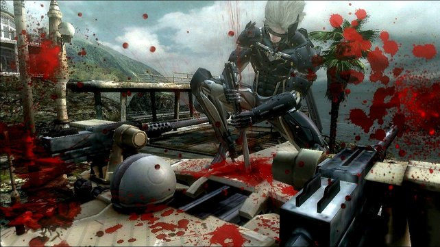 Auch wenn eure Gegner Cyborgs sind, fließt rote Farbe.