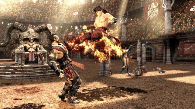 Liu Kang tritt Kano. Ganz schön heiß.