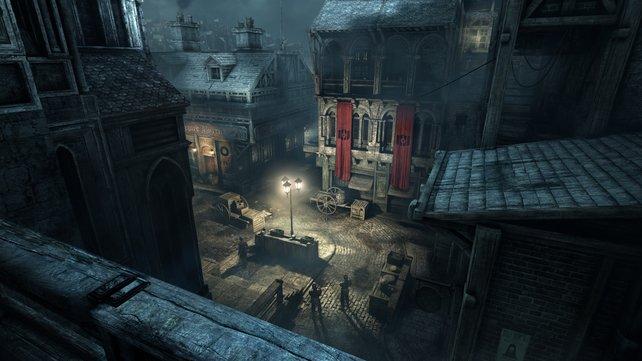 Überall auf den Straßen der namenlosen Stadt trefft ihr auf die Schergen des bösen Barons.