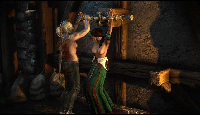 Die Baronin wird in The Witcher 2 in einem Kerker gefesselt. Es liegt am Spieler, ob man sie oder ihren Sohn rettet.