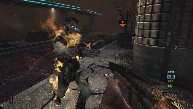 Im Zombie-Modus ist Mannschaftsgeist entscheidend - teilt ihr euch auf, seid ihr schnell tot.