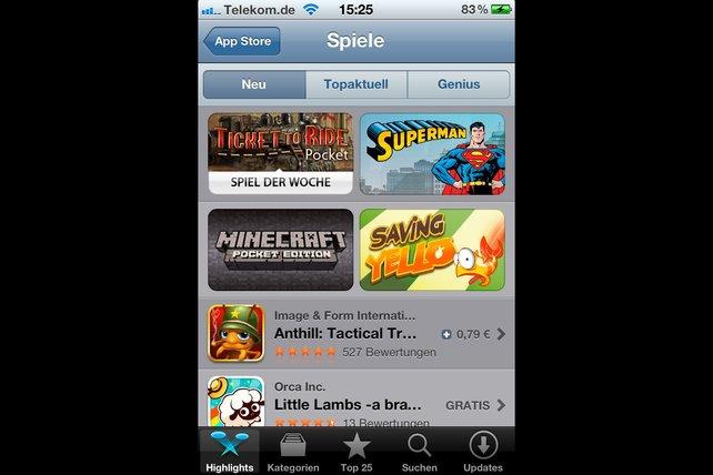 Der App Store besitzt eine gigantische Spieleauswahl.