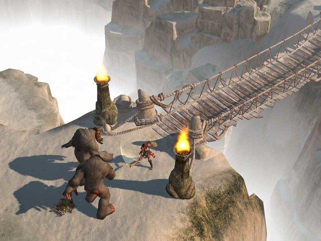 Haushohe Gegner stehen in Titan Quest auf der Tagesordnung.