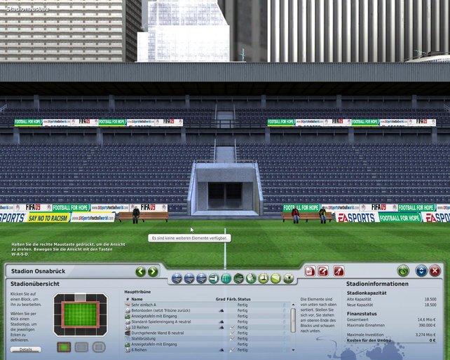 Der Ausbau des Stadions kostet viel Geld.