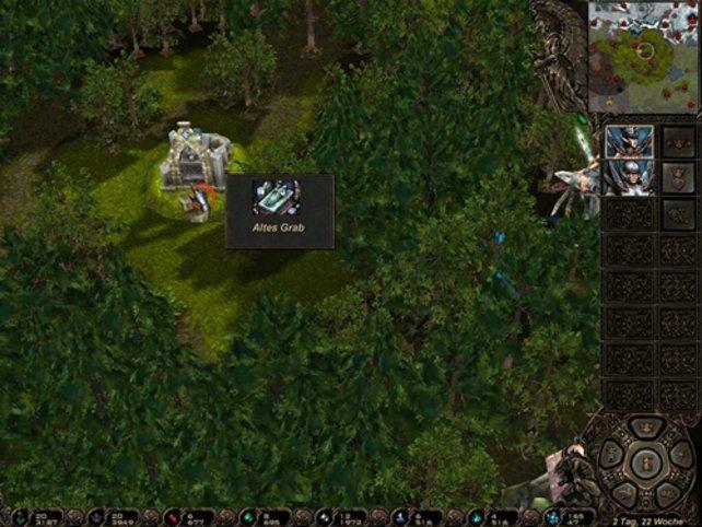Ein Ausschnitt der taktischen Karte
