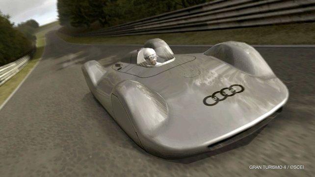 Moderne des Jahres 1937: der Auto Union Typ C Stromlinienwagen in Gran Turismo 4.