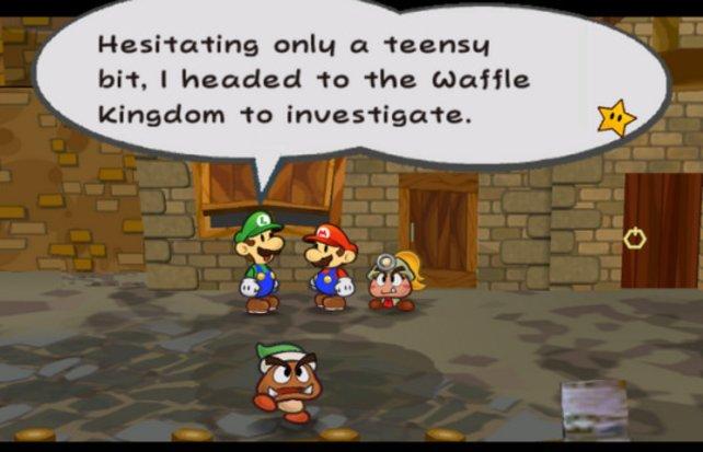 Die Szenen, in denen Luigi seine Lügengeschichten erzählt, gehören zu den tragischsten in allen Mario-Spielen.
