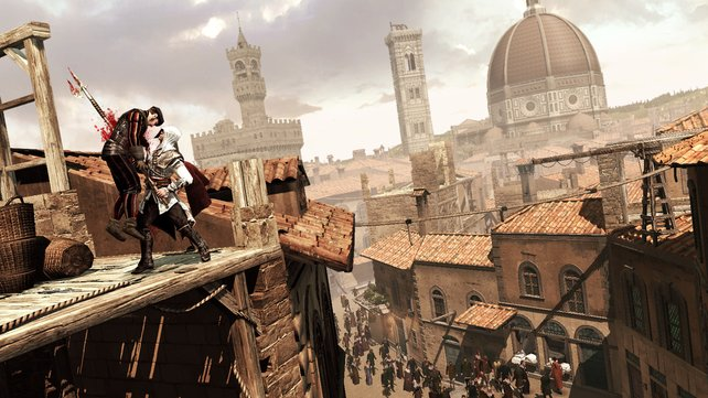 Meist stehen die Wachen auch auf dem Dach.
