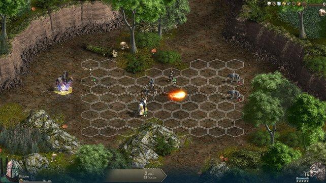 Das Wabenmuster ist das Schlachtfeld für eure rundenbasierten Kämpfe.