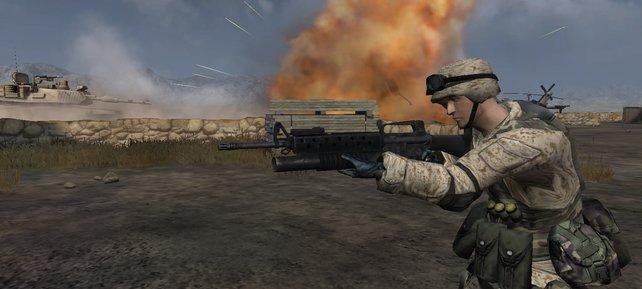 In Battlefield 2 kämpft ihr für Amerika, Nahost oder China.