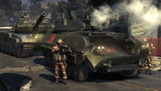 Mit ausreichend Battle-Punkten kauft ihr schlagkräftige Panzer.