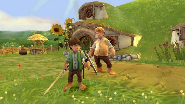 Schwer bewaffnet, so zieht ein Hobbit den Kampf!