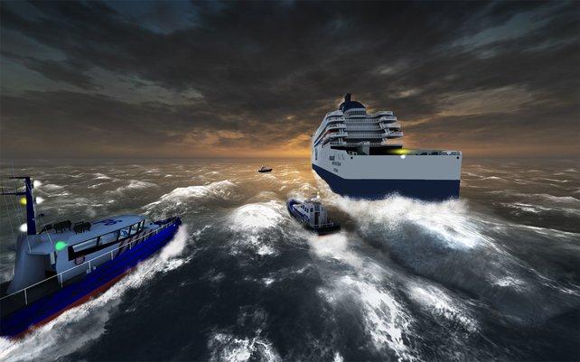 Abwechslungsreich geht es im Ship Simulator Extremes zu, wie auf dieser Rettungsmission.