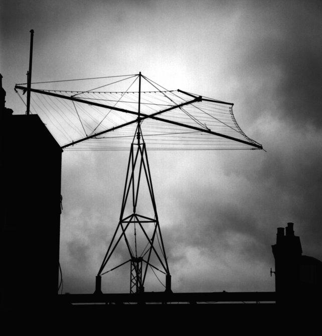 Diese Antenne könnte jemand heimlich als Zahlensender betreiben.