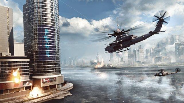 In Battlefield 4 kämpft ihr zu Land, zu Wasser und in der Luft.