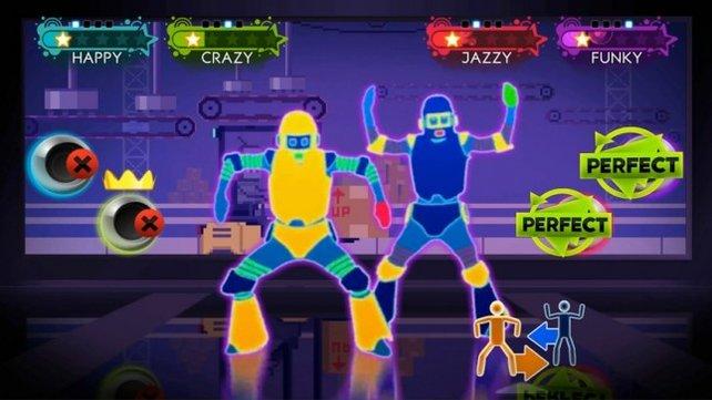 Im Duett oder auch Quartett - der Mehrspielermodus ist der Höhepunkt von Just Dance 3.