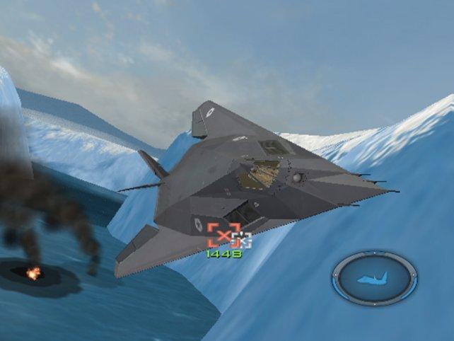 """Darf ich vorstellen: Stealth Flugzeug vor ... tja, sagen wir mal """"irgendeinem"""" Hintergrund."""