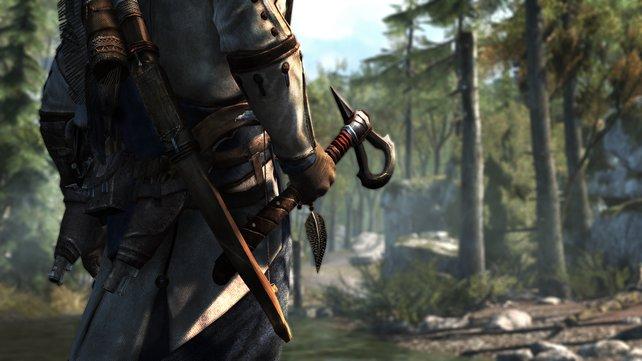 Mit seinem Assassinen-Tomahawk geht Connor äußerst flink um.