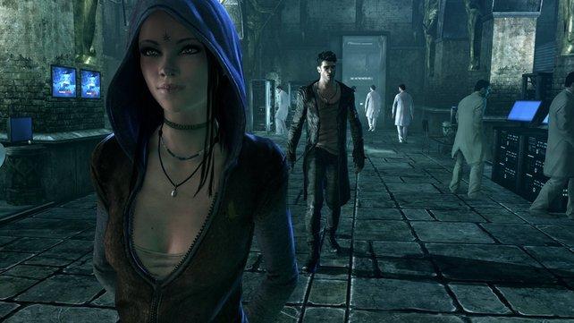Als Dante trefft ihr im Spiel weitere menschliche Charaktere, die euch unterstützen.