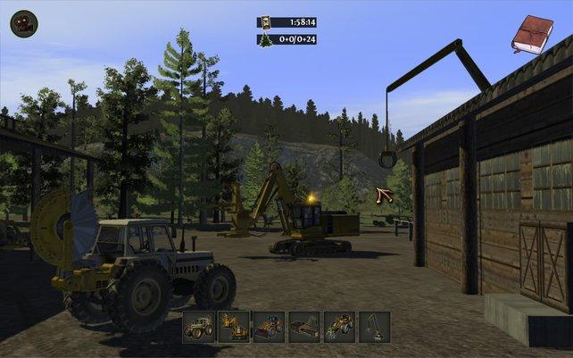 Ein ganzes Sägewerk liegt im Holzfäller Simulator 2011 in euren Händen. Flora ade!
