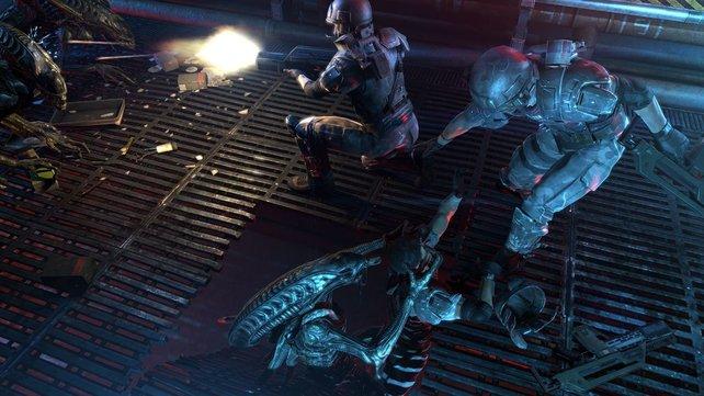 Aliens werden die Spieler auch überraschend aus unauffälligen Verstecken angreifen.