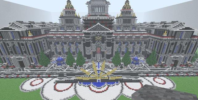 Ein Palast wie dieser kostet euch viele Stunden Arbeit.