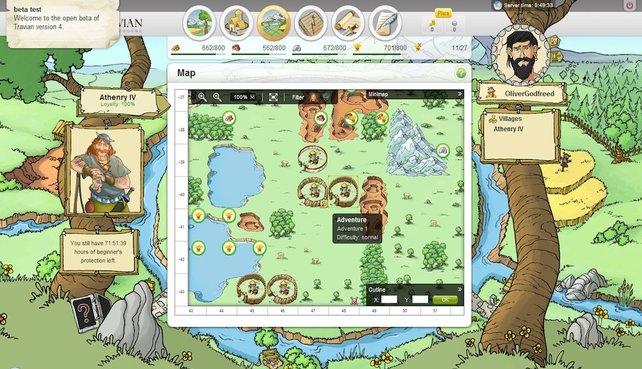 Das Browserspiel Travian ist ein komplexes Aufbauspiel.