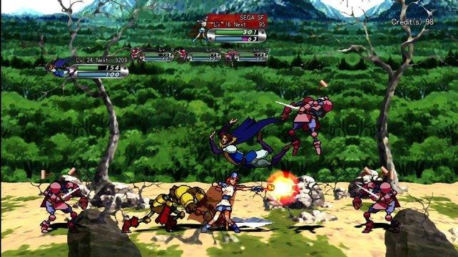 Die (optional) überarbeitete Grafik ist Sega und Treasure gelungen.