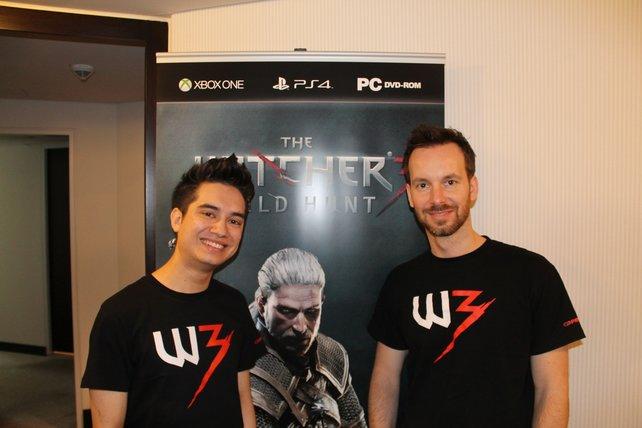 Miles Tost (links) und Michal Platkow-Gilewski von CD Projekt RED.