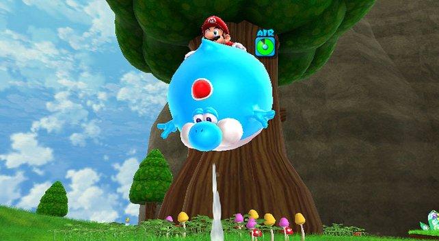 Neue Power-Ups: Mit der richtigen Frucht wird Yoshi zum Ballon.