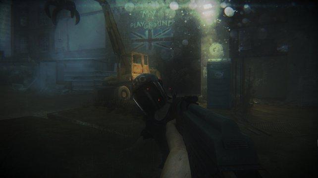 Dieser Spezial-Zombie trägt die Schutzausrüstung der Polizei.