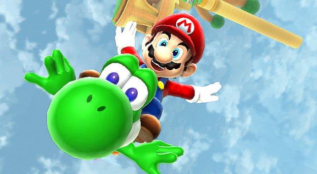 Das Traumpaar ist zurück: Mario und Yoshi machen die Galaxie unsicher.