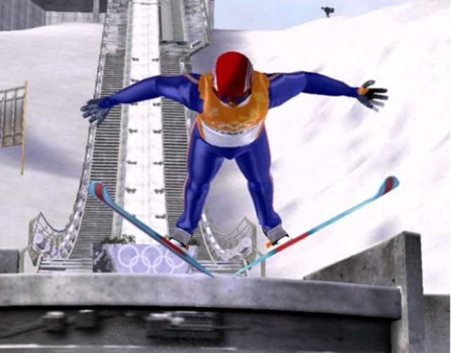 Hoch und weit - beim Skispringen