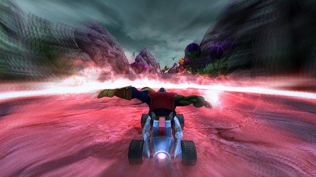 Spezialattacken wie diese Schockwelle liegen auf der Strecke verteilt (Bild aus der Wii-Version).