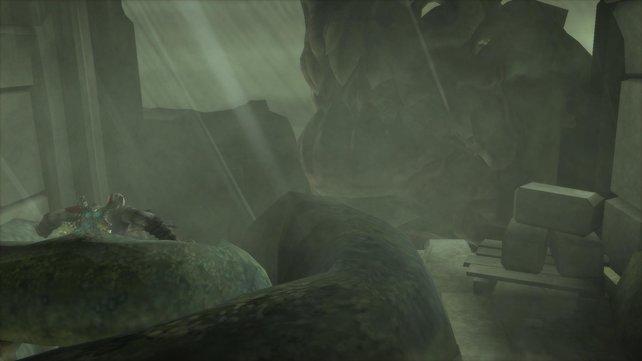 Ein riesiges Tentakel quetscht euren Helden.