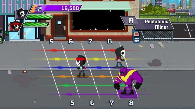 Scale Warriors ist ein weiteres Mini-Spiel, in dem euch die Tonleiter näher gebracht wird.